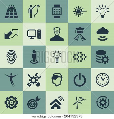 Elements Remote Storage, Innovation, Freedom And Other Synonyms Profile, Knowledge And Innovation.  Vector Illustration Set Of Simple Creativity Icons.
