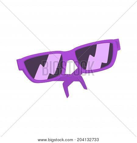 Purple sunglasses cartoon vector Illustration on a white background