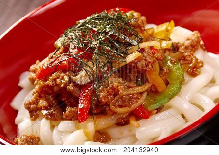 Udon Noodles With Beef Tendon Stew