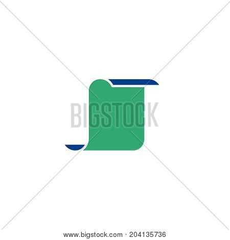 Printing paper flat icon. Single high quality symbol of silhouette paper vector for web design or mobile app. Color signs of document for design logo. Single pictogram of newspaper on white background