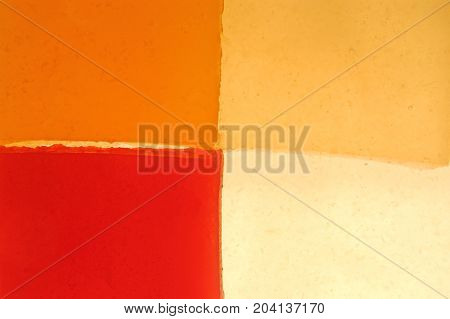 Detail of four càlid colors of gelatin