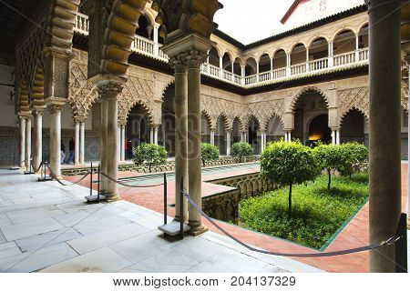 Real Alcazar In Seville, Andalusia