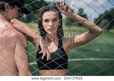 Sportive Woman Looking At Camera