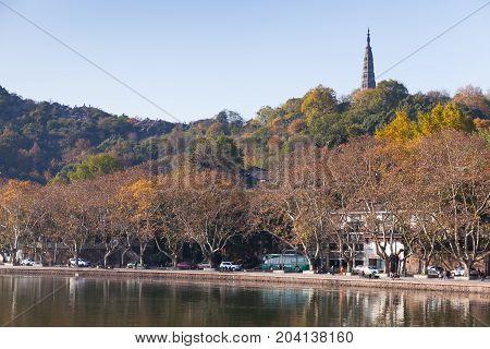 West Lake Landscape, Famous Park In Hangzhou
