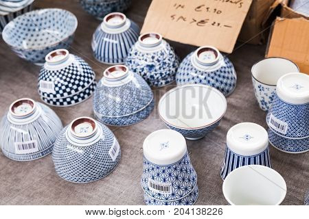Japan Porcelain. Goods Of Outdoor Market