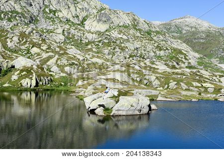 Mountain Landscape Of Gotthard Pass