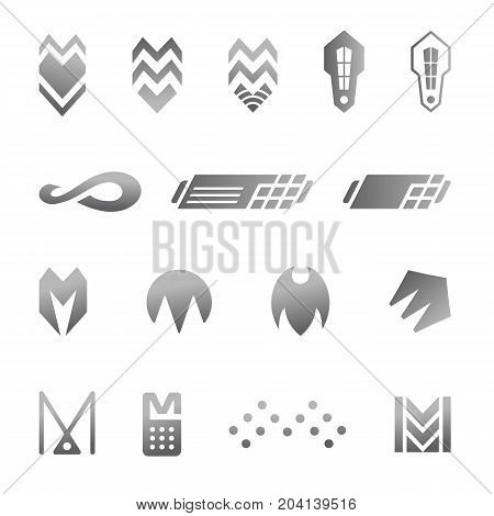 Silver business abstract symbols for logo design
