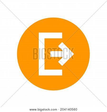 logout, exit icon, symbol, eps 10 file, easy to edit