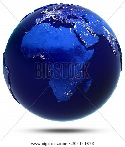 Africa continent and countries. Elements of this image furnished by NASA 3d rendering