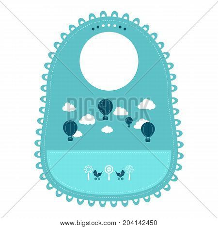 Baby Bib For Eating Food Isolated On A White Background. Vector Illustration. Products For Children