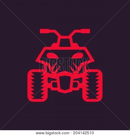 quad bike, atv icon, eps 10 file, easy to edit