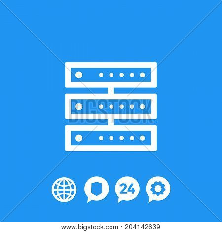 server icon, vector illustration, eps 10 file, easy to edit