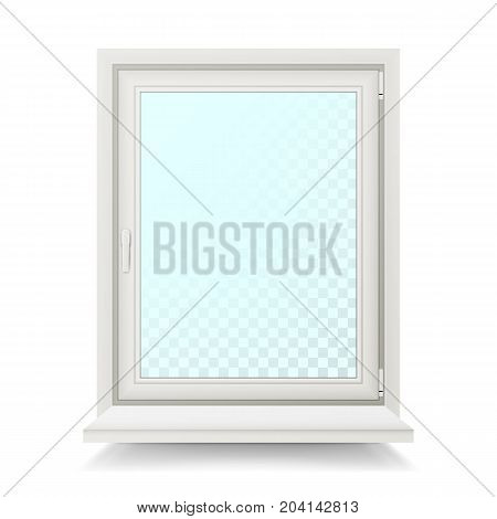 Plastic Window Vector. Home Window Design Concept. Isolated
