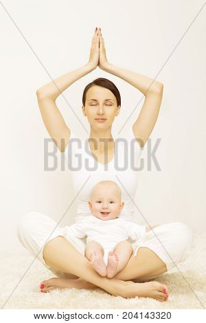 Yoga Baby and Mother Sport Exercise for Child and Mom Healthy Fitness for Family with Kids