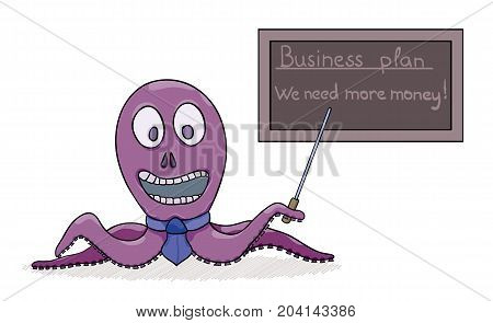 Octopus As A Businessman And His Business Plan