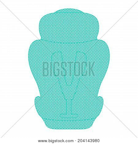 Shape Of Child Car Seat Isolated On A White Background. Vector Illustration. Products For Children
