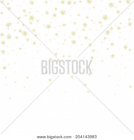 Snowflake Background White Gold