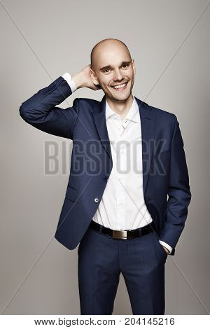 Relaxed Man In Suit