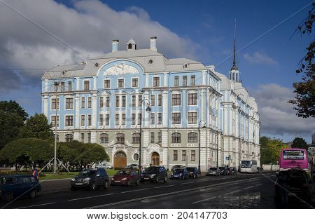 19TH SEPTEMBER 2012, ST PETERSBURG, RUSSIA - Military Marine college by name of Nakhimov in St. Petersburg Russia