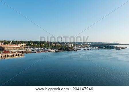 Charlottetown harbor and downtown Prince Edward Island Canada