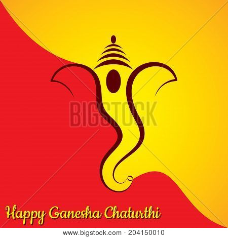 Illustration of Ganesha chaturthi utsav greeting card stock vector
