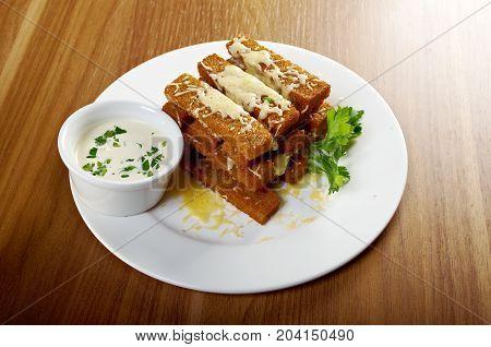 Snack Roast Rusk From Dark Bread