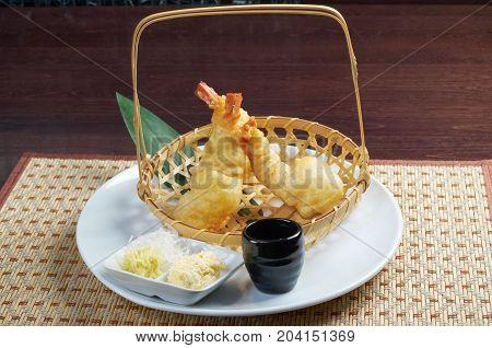 Japanese Fried Tempura With Shrimp