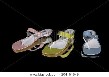 Areosa, Portugal, July 25, 2017: Alegria Brand Sandal. Alegria is a Portuguese company that built all kinds of shoes. Sandal on background.Studio Shot.