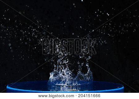 Splash water, water splashes, isolated on black background