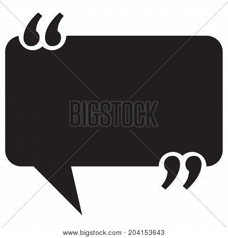 Your Quote Here Speech Bubble Quotation Text Advice