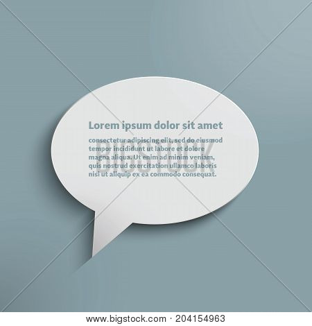 Paper dialog box with space for your text.