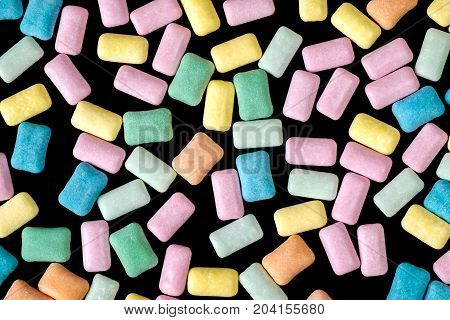 Brightly Colored Close Up Chewing Gum