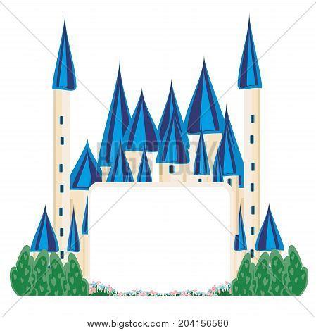 Magic FairyTale Princess Castle , vector illustration