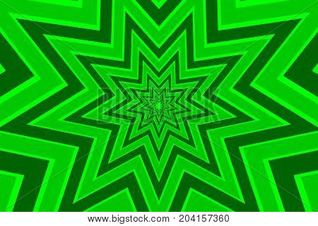 nine pointed star green abstract vector pattern