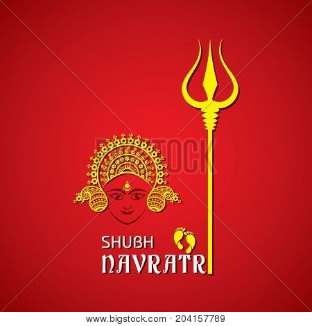 Illustration of Navratri utsav greeting card stock vector