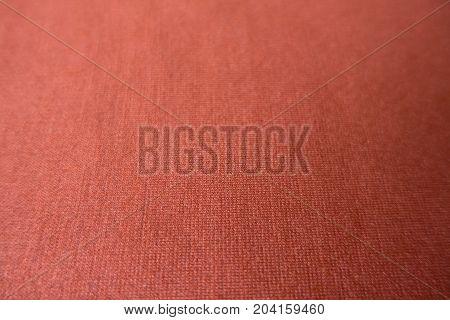 Surface Of Reddish Orange Simple Viscose Fabric