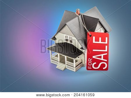 Sale model classic house background object design