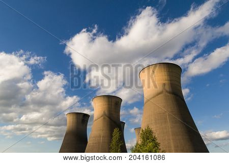 Willington Power Station Cooling Towers Disused. Derbyshire United Kingdom.