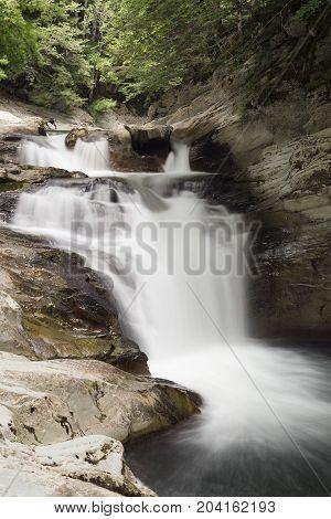 Cube Waterfall In The Selva De Irati.
