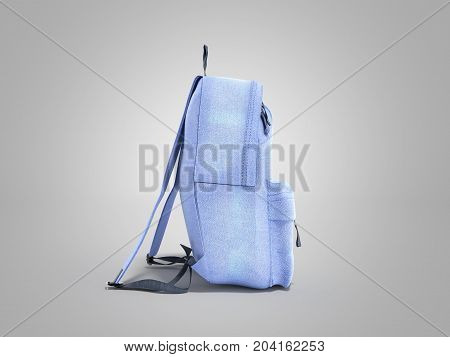 Open Backpack Bag School 3D Render On Grey