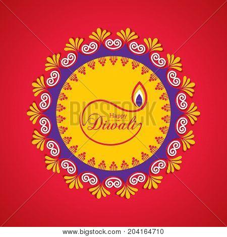 Diwali utsav greeting or poster card stock vector