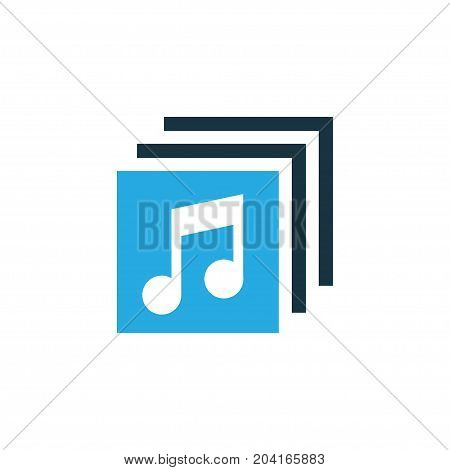 Premium Quality Isolated Music Element In Trendy Style.  Albums Colorful Icon Symbol.