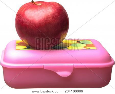 Lunch apple red apple food healthy eating lunch box nutritious