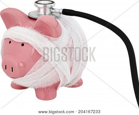 Debt finance recession recovery poverty bankruptcy stethoscope