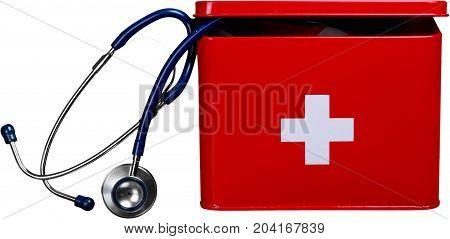 First aid kit medicine first aid emergency medicine emergency medical kit preparedness stethoscope