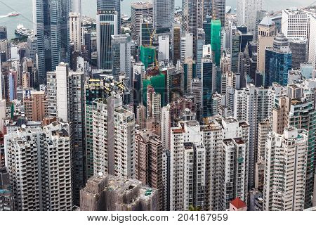 Concrete Forest For Both Side Of Hong Kong