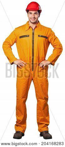 Uniform helmet worker hard hat jumpsuit blue collar laborer