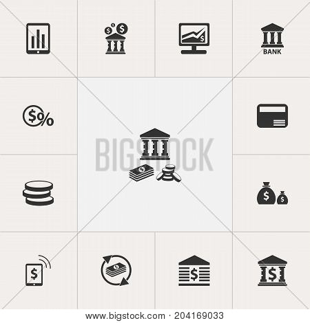 Set Of 13 Editable Investment Icons. Includes Symbols Such As Unitersity, Investment, Savings And More