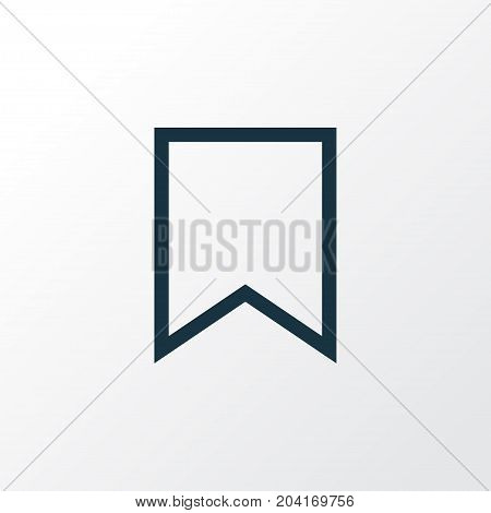 Premium Quality Isolated Bookmark Element In Trendy Style.  Mark Outline Symbol.