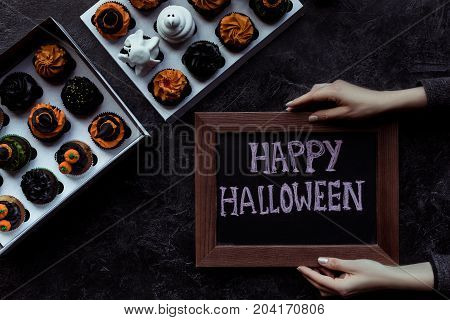 Halloween Cupcakes And Board